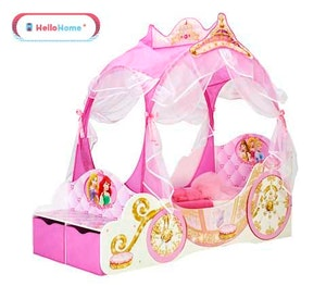 Win disney princess carriage feature bed