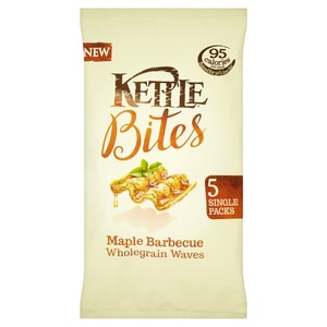 Kettle  bites maple barbecue wholegrain waves multipack