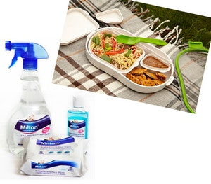 Milton hygiene kits  lakeland lunchboxes competition