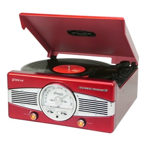 Classic turntable red
