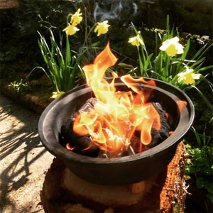 Outdoor hob flames