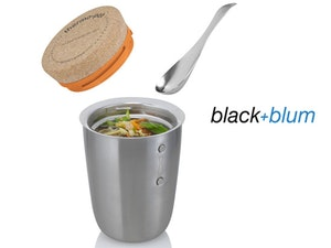 Black and blum thermo pot competition