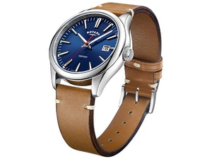 Rotary watches bauer media oxford tan b