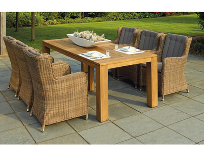 Win a YOUKE Rattan Garden Furniture Set Patio Conservatory Indoor Outdoor 4 piece set table chair sofa (Brown) sweepstakes