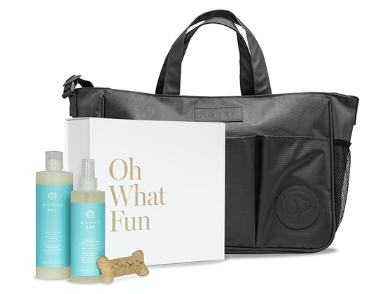 Pamper your pet. Win a MONAT pet gift set. sweepstakes