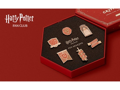 Win a magical bundle from the official Harry Potter Fan Club: 4 First Edition Hogwarts House Pin Sets and 2 one-year memberships to Harry Potter Fan Club Gold. sweepstakes