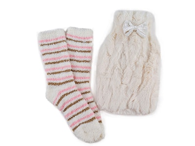 Win a totes Ladies Furry Hot Water Bottle & Bed Sock Set  sweepstakes