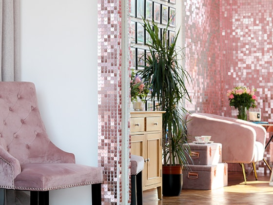 Create a touch of sparkle in your home with an eye-catching sequin wall sweepstakes