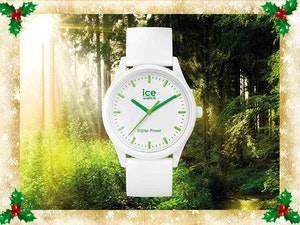 Ice watch ice solar power white mood nature frame