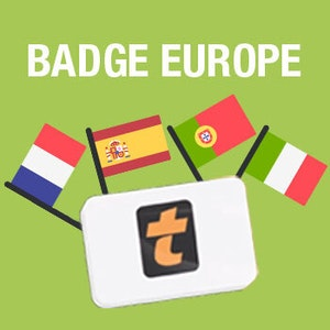 Badge 4 pays