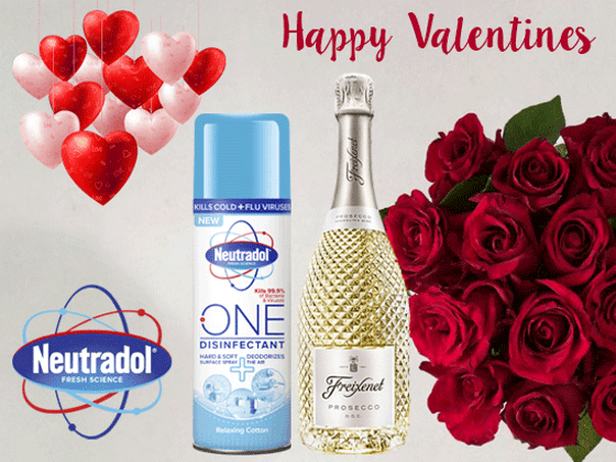 WIN A VALENTINES BUNDLE WITH NEUTRADOL ONE DISINFECTANT! sweepstakes