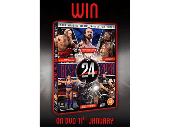 To Celebrate the DVD release of WWE: WWE 24 - The Best of 2020, we are giving away DVD copies to five lucky winners sweepstakes