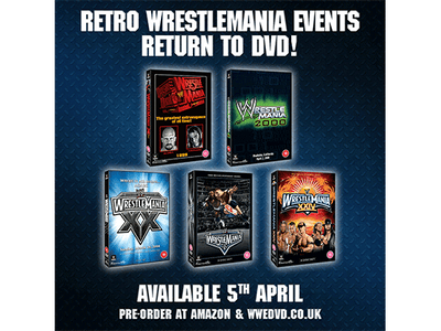 FIVE OF THE GREATEST WRESTLEMANIA EVENTS OF ALL TIME RETURN TO DVD – WRESTLEMANIAS 14, 16, 20, 22 & 24! sweepstakes