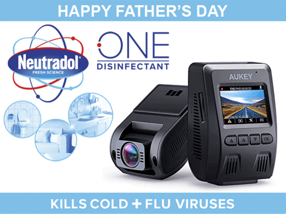 WIN AN AUKEY DASHCAM WITH NEUTRADOL ONE THIS FATHER'S DAY! sweepstakes