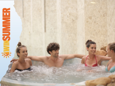 Dellonda 2-4 Person Inflatable Hot Tub Spa with Smart Pump sweepstakes