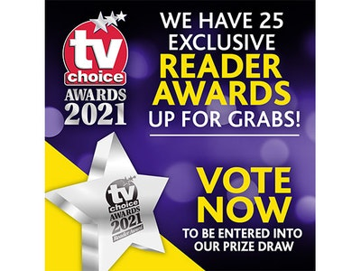 Vote in the 25th TV Choice Awards to win a Reader's Award sweepstakes