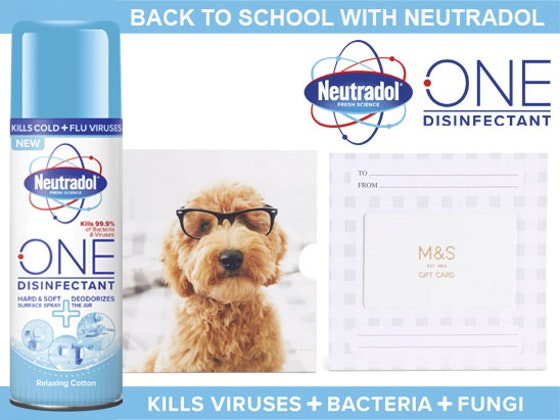 £70 to spend at Marks & Spencer for Back to School with Neutradol sweepstakes