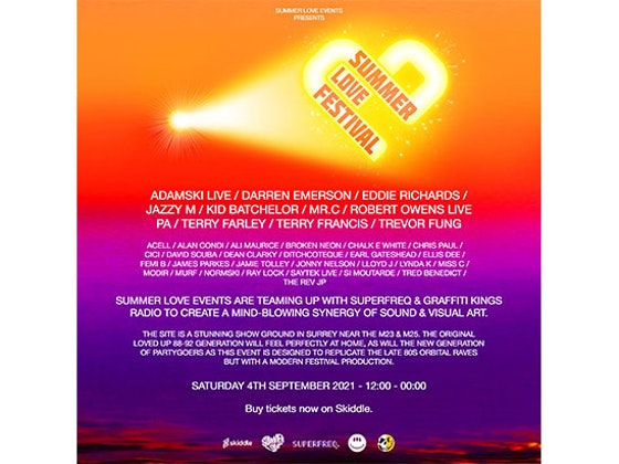 4 Tickets to Summer Love Festival 2021 sweepstakes