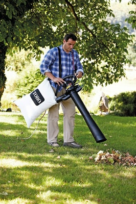 Leaf blower in use 2