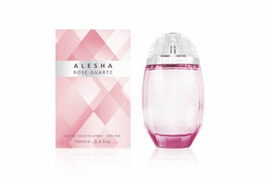 Alesha rose quartz with box 100ml 24 50 credit as nationwide stockists